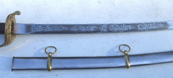 US 1850 Foot Officer Sword right detail