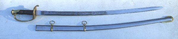 US 1850 Foot Officer Sword
